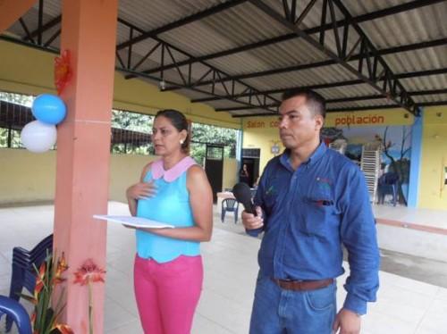 La Doctora Martha Cecilia Pizza Lozada y el Ingeniero Wilfredo Alfonzo Rueles Guevara