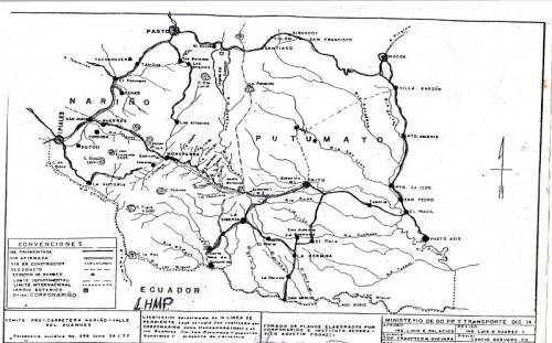 Recorrido que lo hacían desde Potosí  e Ipiales, Nariño, atravesando la trocha  de Monopamba, Nariño para llegar a  Siberia, los primeros nariñenses.