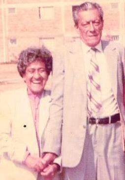 Emma Cisneros y  José María Rosero
