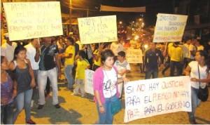 Foto. Marcha pacífica de los Estudiantes del ITP de Mocoa, en apoyo al paro agrario de Colombia. Sept. 2013.