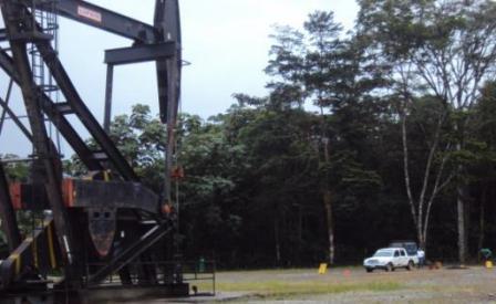 Pozo San Antonio 2. Con más de 40 años de producción petrolera.