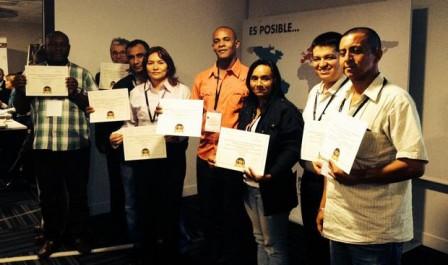 Grupo de finalistas del concurso Cacao de Oro de Colombia.