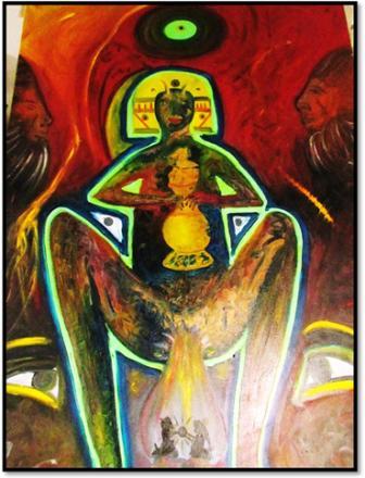 Pintura – La diosa del pecado. Slf- 2014