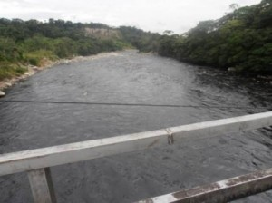 Rio Guamuéz al paso por la vereda Primavera de Orito.