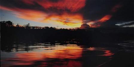 Foto: Tatiana Riveros Este atardecer captado en Puerto Nariño ocupó el primer lugar en la categoría 'Belleza natural'.