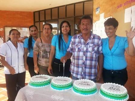 Carlos Julio Rosas Guancha Alcalde y algunos funcionarios.