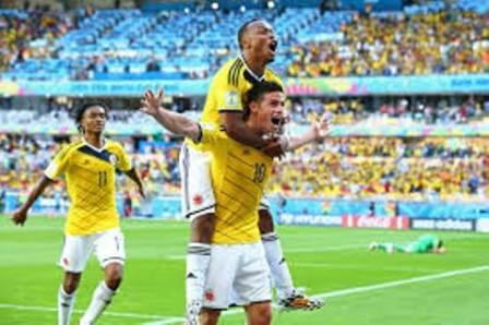 James Rodríguez celebra su gol en el partido ante Grecia por la Copa del Mundo 2014. (Ian Walton/Getty Images)