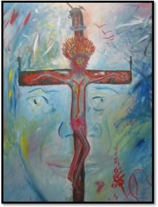 Óleo: El Gran Chaman de los Milagros.  Tamaño: 120 x 80 cms. SLF-