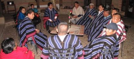 Una representación de 15 indígenas Kamëntsá, entre danzantes, autoridad tradicional y exgobernadores, viajaron desde Sibundoy (Putumayo) hasta Villa de Leyva (Boyacá).