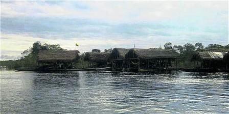 La Policía dice que, para ocultar las dragas, estas son pintadas o cubiertas con falsos techos. Foto: Archivo particular
