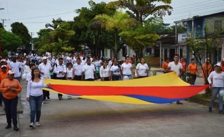 Marcha por la paz en Orito, Putumayo. Foto: Germán Arenas / Cortesía.