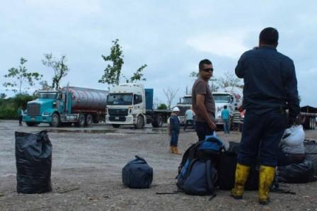 El transporte de crudo desde los pozos del corredor Puerto Vega-Teteyé hasta las refinerías de Ecopetrol se encuentra paralizado. / María Flórez