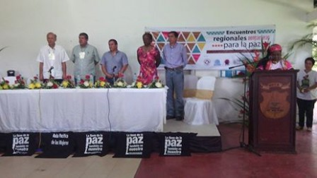 hablando de paz wen puerto asis, putumayo colombia, alcalde jorge coral