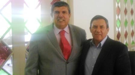 Alcalde de Puerto aAsis Jorge Coral y Gobernador del Putumayo Jimmy Díaz en el Ministerio del Interior en Bogotá