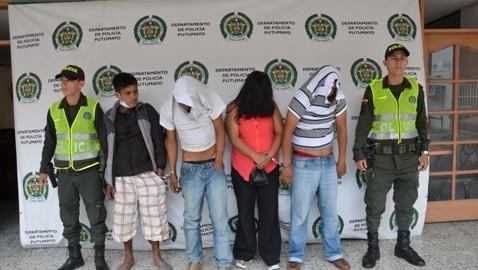 Capturados en flagrancia 5 delincuentes en Mocoa