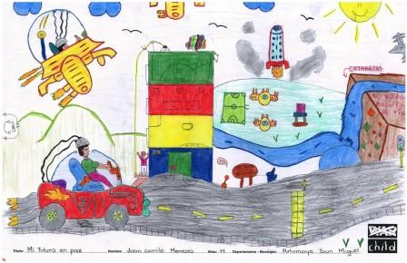 Mi futuro en paz - Juan Camilo Meneses (11 años). San Miguel - Putumayo
