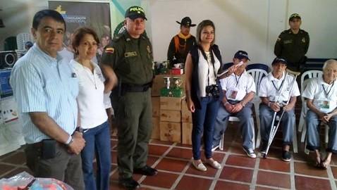 UACT y Policía Putumayo entregan donación a la Casa Hogar del Anciano en Mocoa