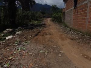 Sector intervenido en el B. La Esmeralda / Mocoa
