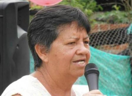 Miralba Chávez presidenta del Hogar de paso Divino Niño de Orito.