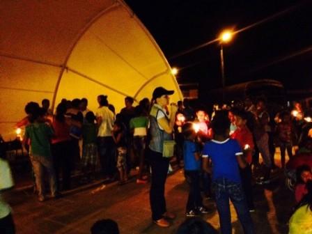 Niños de Puerto Limón encendieron una luz de esperanza por la paz y reconciliación del Putumayo