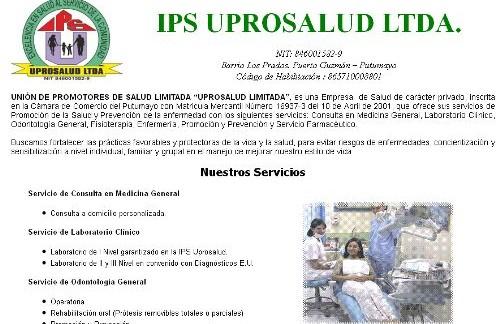 """UNIÓN DE PROMOTORES DE SALUD LIMITADA """"UPROSALUD LIMITADA"""""""