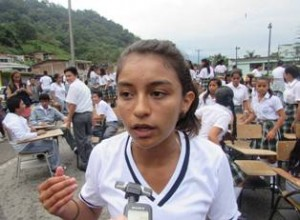 Viviana Ximena Botina, vocera de los estudiantes