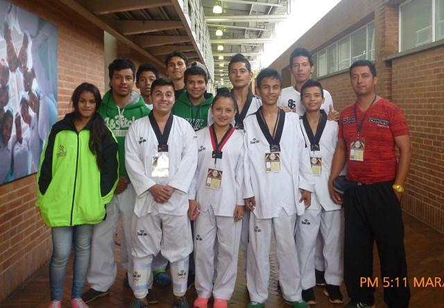 Deportistas putumayenses se destacaron en el Open Nacional e Internacional de Taekwondo. Foto Cortesía. Liga Taekwondo Putumayo.