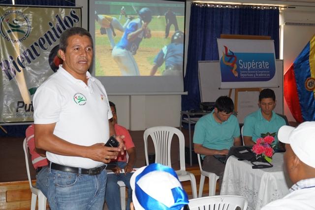 José Javier Narváez, Gerente de Indercultura destacó la calidad competitiva de los deportistas putumayenses. Foto: Indercultura.