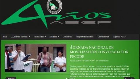 Asociación de Educadores del Putumayo – ASEP, presenta su sitio web