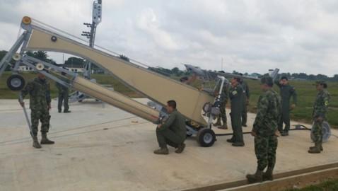 La Fuerza Aérea colombiana inaugura una plataforma para lanzar drones desde Tres Esquinas