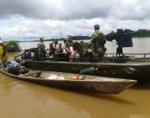 Rescatada familia a la deriva en el río Putumayo
