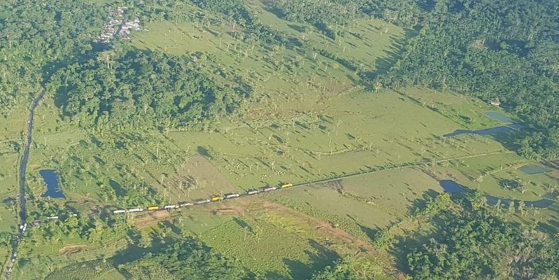 Vista aérea de la zona del Derrame