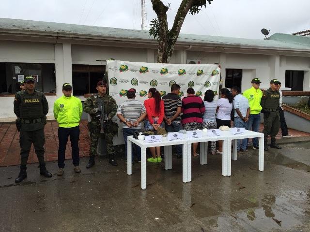 Capturadas 8 personas en Puerto Asís por porte, tráfico y fabricación de estupefacientes