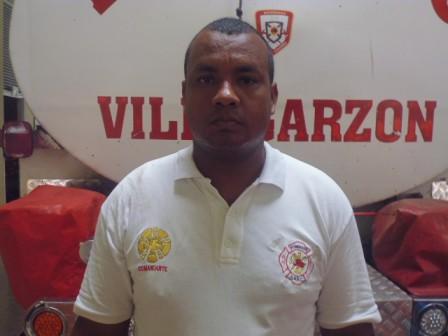 Javier Sevillano, Comandate de Bomberos Villagarzón