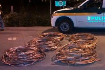Gracias a la reacción de las autoridades, en coordinación con la petrolera, se han podido recuperar 8.727 metros de cable en la Orinoquia, Magdalena Medio y en el sur del país. /Ecopetrol