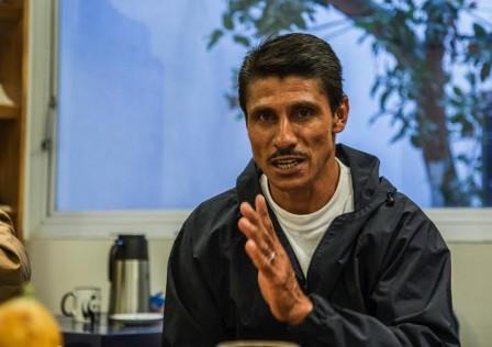 Efraín Morales, representante de la Asociación de campesinos del Putumayo. Foto Santiago Mesa.