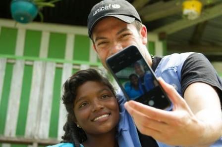 Iván Lalinde es amigo Unicef y en este momento Iván está en una misión en Putumayo, en el internado de Quinapejo.