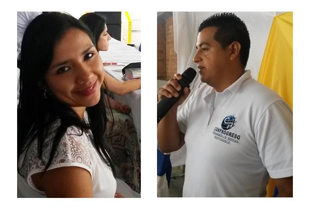 Coordinadores Corprogreso Carolina Fuquene - Coord. Financiera Libardo Guevara - Coord. Putumayo