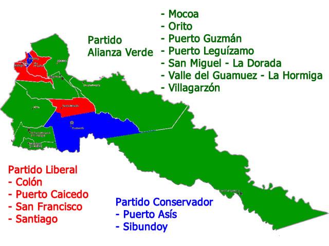 Distribucion Gobernacion Putumayo