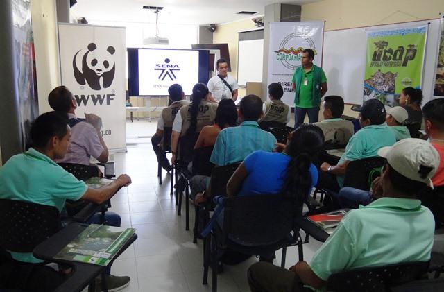 Uno de los primeros en reportar la presencia de osos de anteojos fue Jhony López. Ahora está dedicado a la protección de fauna. (Foto cortesía WWF Colombia)