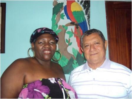 Suyi Ocoró presidenta del concejo y Segundo Octaviano García concejal del municipio de Orito, Putumayo.