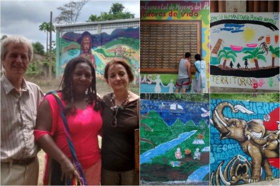 Sofi Ospina y Bill Rolston recorrieron diversos lugares de la geografía nacional. Buenaventura y Putumayo en las imágenes.