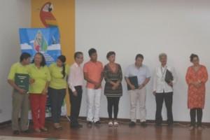 Comité Dignidad por Mocoa recibiendo el reconocimiento.