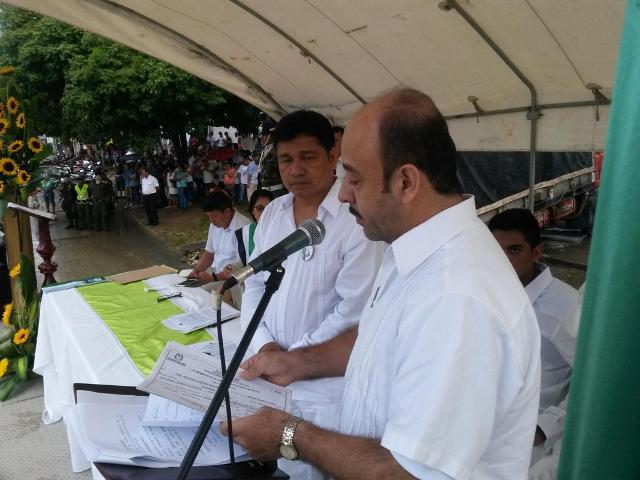 José Antonio Castro - Alcalde de Mocoa Hernán Bobadilla - Notario Único de Mocoa