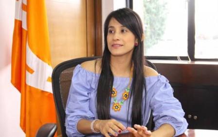 Sorrel Aroca, gobernadora de Putumayo, planteó los retos de su departamento en el posconflicto. FOTO OSCAR EDUARDO DÍAZ, INVÍAS