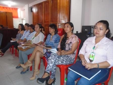 Representantes de las diferentes EPS en el concejo municipal de Orito.