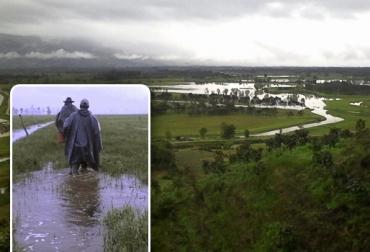 Los meses en los que más se recrudece el invierno en Putumayo son junio y julio y los ganaderoS ya están empezando a sentir las afectaciones. Foto: Manuel Ortiz Cabrera.