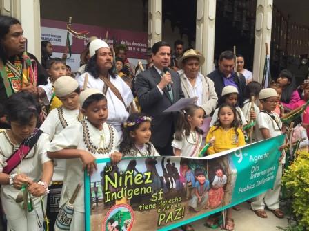 Bogotá, en el marco de la conmemoración del Día Internacional de los Pueblos Indígenas. Suministrada/EL PILÓN