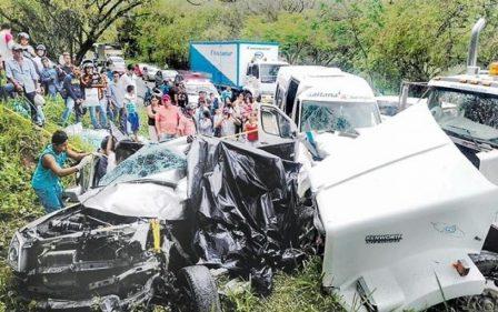 El múltiple choque del fin de semana ayer cobró otra víctima de la familia Cano Taicus