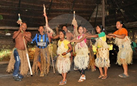 Indígenas uitotos en Amazonas, región mejor protegida que otras. FOTO JUAN ANTONIO SÁNCHEZ